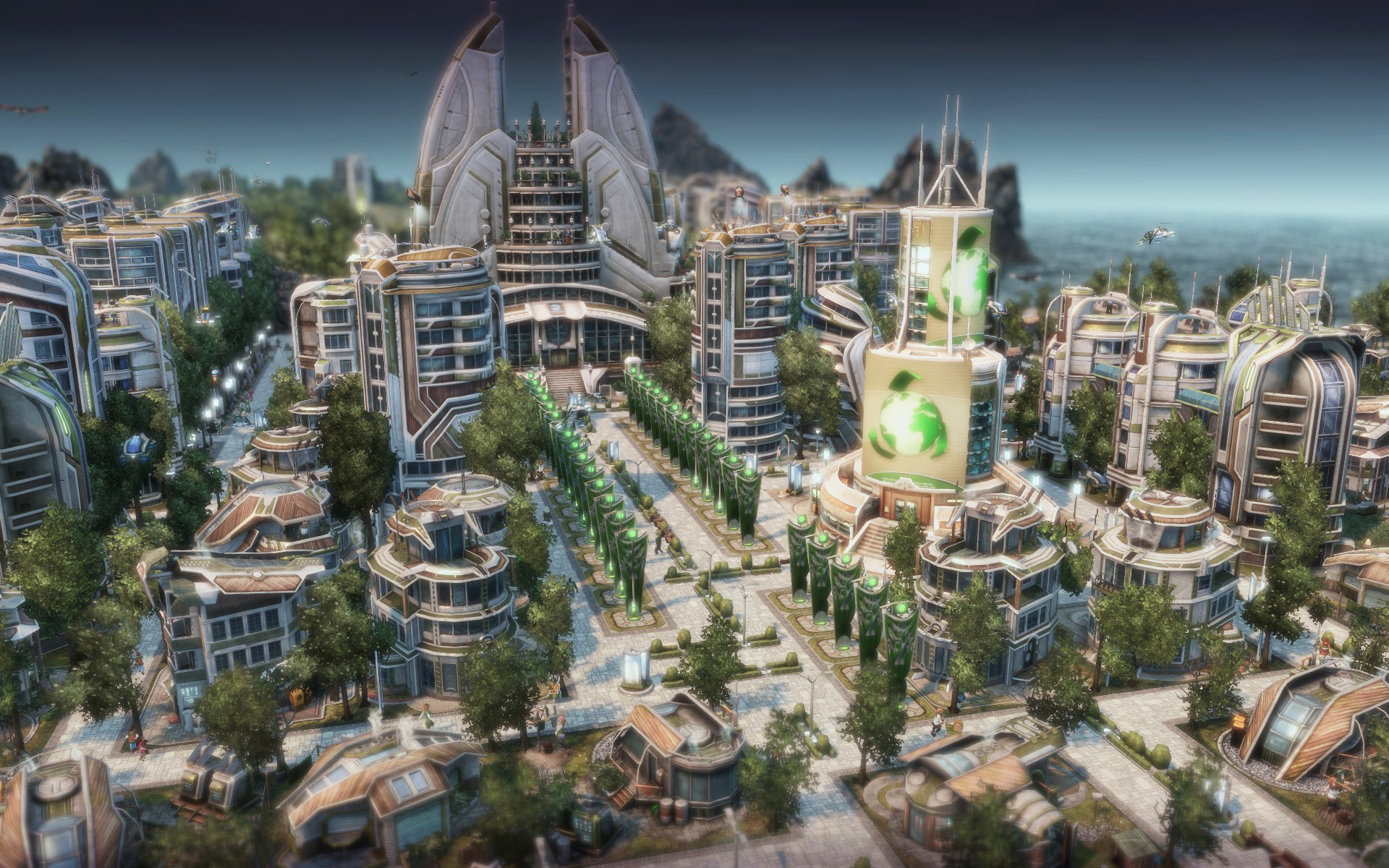 Anno 2070 inspired eco monument minecraft project for Anno 2070 find architect