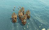 Abb.8: Formation und Zielpunkte einer Schiffsgruppe