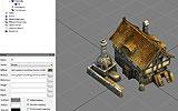 Aus 3D Studio Max exportierte Bäckerei inkl. Texturen