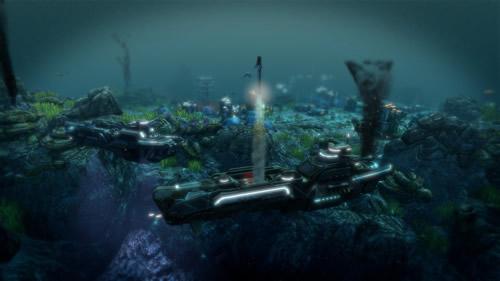 Raketenabschuss unter Wasser