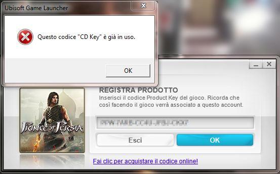 CD key in uso